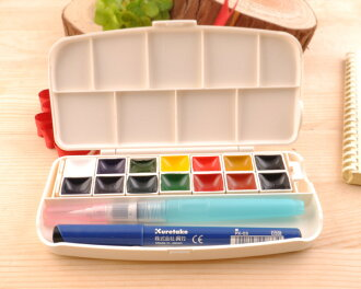 ☆ kuretake Fiss transparent watercolor set 14 color KURE-KG301-1