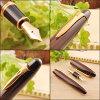 Platinum PLATINUM Izumo iron sword wooden fountain pen matte Siamese Senna / cassia siamea gross F/M/B PLA-PIZ-50000T
