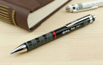 Rotring ROTRING multi-pen composition writing implements Tikky3in1 (BP+SP0.7) white 1904452/ black 1904359
