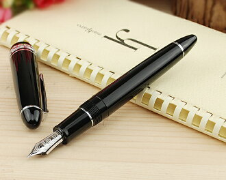 Sailor-SAILOR profit 21 silver halberd sharpened black fountain pen 21 K 11-2524-420 M
