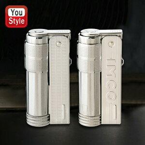 イムコ IMCO イムコ スーパー/IMCO SUPER オイル ライター スライド式 61390 61391 ロゴ付 シルバー メンズ 豪華 喫煙具 柘製作所 tsuge