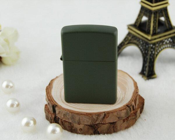 ジッポー ZIPPO ライター レギュラーサイズ グリーンマット オイルライター 221