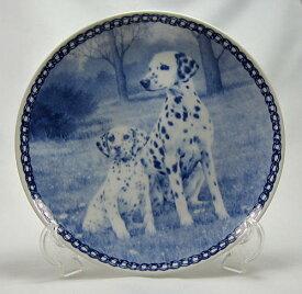 【送料無料】犬の絵皿・ダルメシアンの親子・#3080 (ドッグプレート)