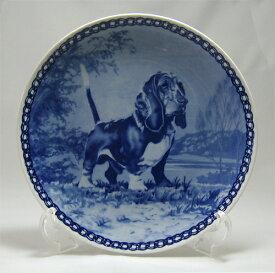 【送料無料】犬の絵皿・バセット・ハウンド・#7026 (ドッグプレート)