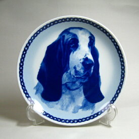 犬の絵皿・バセット・ハウンド・#7525 (ドッグプレート)