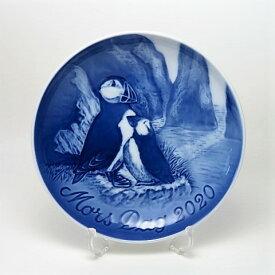 【送料無料】ビングオーグレンダールマザーズディ・プレート2020年(ツノメドリの親子)箱・説明書付