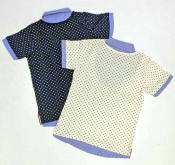 ジュニア☆フェイクレイヤード半袖Tシャツ