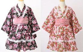 セール中♪○スイートデザインベビー浴衣ドレス○90cm, 95cm(ベビー・女の子)送料無料