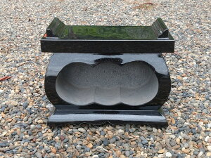 【お墓・香墓石・炉】 インド産本クンナム・黒御影石経机型香炉【送料無料】