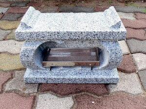 【お墓・墓石・香炉】白御影石経机香炉・香皿付【送料無料】