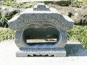 【お墓・墓石・香炉】 白御影石宮型香炉・香皿付【送料無料】