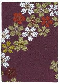 御朱印帳(大)【金襴 006 Basic】 流れ桜・紫(ネコポスでお届け・代引き、時間指定不可)