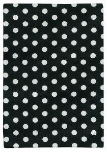 御朱印帳(小)【金襴 029 Dot & Stripe】ブラック ケース付き