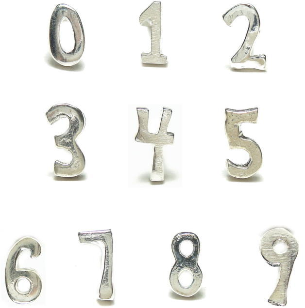 バラ売りシルバーピアス シルバー925 ラッキーナンバーはどれですか?シルバーの数字スタッドピアス a442-a451 シルバー925 silver925 シルバーアクセサリー レディースピアス メンズピアス