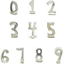 ラッキーナンバーはどれですか?シルバーの数字スタッドピアス
