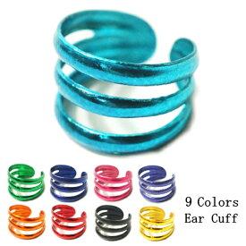 片耳用 バラ売り カラー9種類 三本線のシンプルな定番デザインのイヤーカフス シルバー925 silver925 シルバーアクセサリー イヤーカーフ イヤカフ ライン