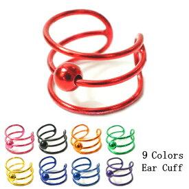 片耳用 バラ売り カラー9種類 中央にワンポイントが付いたシンプルなイヤーカフス シルバー925 silver925 シルバーアクセサリー イヤーカーフ イヤカフ