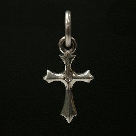 シルバー925 中央のスワロフスキー シンプル デザイン クロス 十字架 ペンダントヘッド silver925 シルバーアクセサリー シルバー製 スワロフスキー メンズ