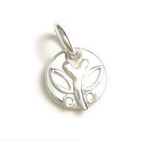 シルバー925 可愛い プレート 蝶々 ペンダントトップ silver925 シルバーアクセサリー ちょうちょう チョウチョウ バタフライ シルバー製 ペンダントヘッド