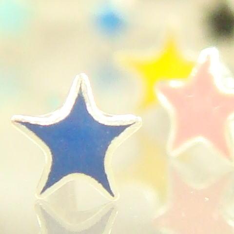 シルバーピアス 小さなカラフルスター プチお星様のスタッドピアス  シルバー925 silver925 シルバーアクセサリー スタッドピアス レディースピアス