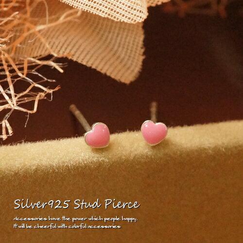 シルバーピアス よく見るとハート型 とっても小さなプチハートスタッドピアス シルバー925 silver925 シルバーアクセサリー レディースピアス