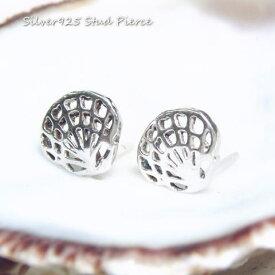 シルバーピアス シェルのシルエットがかわいい 涼しさが伝わる貝殻のピアス シルバー925 silver925 シルバーアクセサリー 貝 海 スタッドピアス レディースピアス 夏アクセ