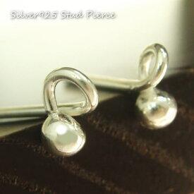 丸玉 シルバーピアスいったいどうなってるの?シャカ球ボールにシルバー線が不思議に組み合わさったシンプルスタッドピアス シルバー925 silver925 シルバーアクセサリー スタッドピアス レディースピアス