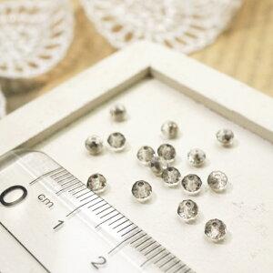ボタンカットビーズ2.5x3.5mm グレー 1gのグラム販売(約25個入り) グレー系 ガラスビーズ チェコビーズ グラスビーズ アクセサリーパーツ 手作り ハンドメイド 材料