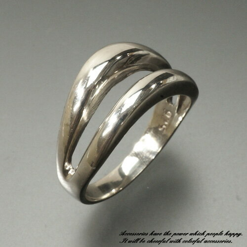 30%OFF!!メイン部分が2重の波になったシルバーリング シルバー925 silver925 シルバーアクセサリー 指輪 ウェーブ サーファー サーフィン メンズ レディース
