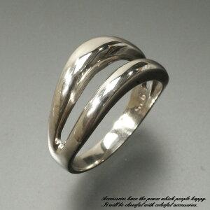 20%OFF!!メイン部分が2重の波になったシルバーリング シルバー925 silver925 シルバーアクセサリー 指輪 ウェーブ サーファー サーフィン メンズ レディース
