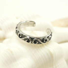 フリーサイズリング S字のような唐草模様の足指リング カラクサ シルバー925 silver925 シルバーアクセサリー 指輪 足指リング トゥリング トウリング ピンキィリング