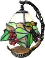 ステンドグラス ランプ 赤ブドウ(532)柄 吊型 ミニタイプ 幅15cm 高さ18.5cm ステンドライト