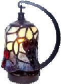 ステンドグラス ランプ 吊り型 ミニサイズ ナギットのブドウ柄 高さ16.5cm ステンドライト