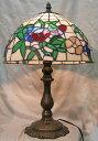 ステンドグラス ランプ 三色花(シェード直径31cm 高さ46cm) テーブルランプ ティファニー風