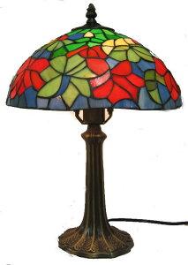 ステンドグラス ランプ 紅葉 (シェード直径31cm 高さ43cm) テーブルランプ ティファニー風