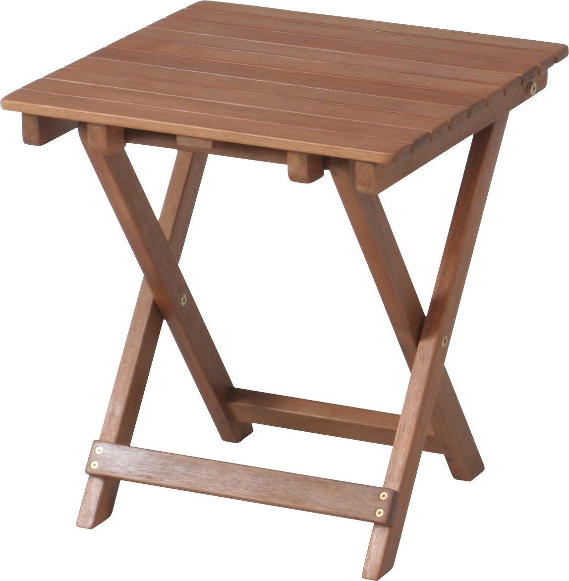 不二貿易 折りたたみ式 ガーデン サイドテーブル 79499  35cm×35cm x高さ44cm 本体重量:1.8kg