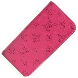 ルイヴィトン iPhone7プラスカバー モノグラム マヒナ IPHONE7+&8+ フォリオ M62196 フューシャ 中古 ピンク 手帳型 ロゴマーク Louis Vuitton