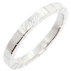カルティエ リング ラニエール B4045065 WG ホワイトゴールド サイズ65 25号 中古 指輪 ロゴ入り メンズ ペアリング チャーム ペンダントトップ Cartier