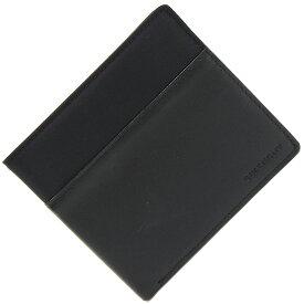 ジバンシー 二つ折り札入れ ブラック ナイロン レザー 中古 黒 革 折り財布 メンズ 男性 GIVENCHY
