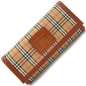 バーバリーズ 5連キーケース チェック ベージュ ブラウン キャンバス レザー 中古 鍵 5本 キーホルダー レトロ ヴィンテージ レア Burberry's