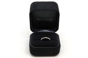 ティファニーリングクラシックバンド3MMPTプラチナ15号中古指輪結婚指輪マリッジリングペアリングTIFFANY&Co