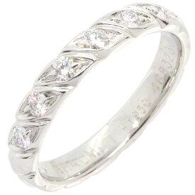 ショーメ リング トルサード マリッジリング ハーフパヴェダイヤ 082724 Pt プラチナ 18号 中古 指輪 結婚指輪 メンズ CHAUMET