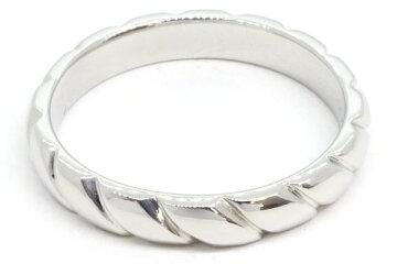 ショーメリングトルサードマリッジリングハーフパヴェダイヤ082724Ptプラチナ18号中古指輪結婚指輪メンズCHAUMET