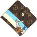 ルイヴィトン 二つ折り財布 モノグラム グルーム コンパクト ジップ M60036 ブルー 中古 水色 女性 ベルボーイ コンパクトウォレット L…