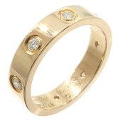 カルティエリングミニラブリングフルダイヤB4050848PGピンクゴールドサイズ488号中古指輪ウェディング8PCartier