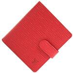 ルイヴィトン二つ折り財布エピポルトビエコンパクトM63557カスティリアンレッド中古コンパクトウォレットレッドレザーレディースLOUISVUITTON