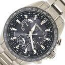 セイコー メンズウォッチ アストロン SBX045 ブラックダイアル バーインデックス ステンレススチール ソーラーGPS電波 中古 時計 腕時…