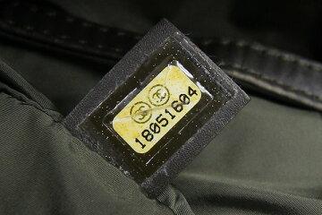 シャネルトートバッグコココクーンスモールトートA48610カーキチェックナイロンレザー中古キルティングステッチレディースCHANEL