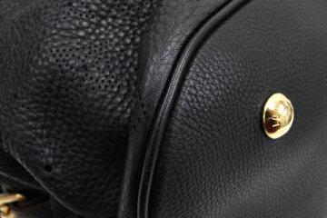 ルイヴィトントートバッグモノグラムマヒナLM95765ノワール中古ブラック黒パンチングLOUISVUITTON
