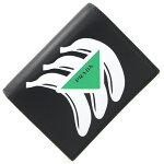 プラダ二つ折り財布バナナモチーフ1MV204ブラックレザー新品未使用コンパクトウォレットメンズレディースPRADA